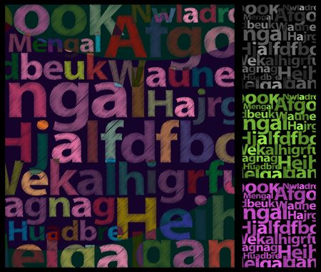 bock: Rough Color Letters Background Illustration
