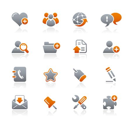 Internet and Blog Graphite Icons Series  Stock Vector - 6625062