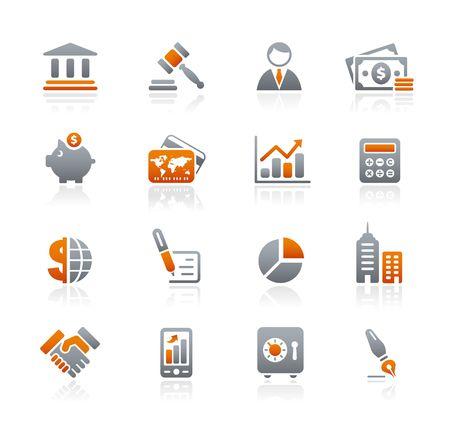 grafit: Biznesowych, finanse   Graphite ikony serii