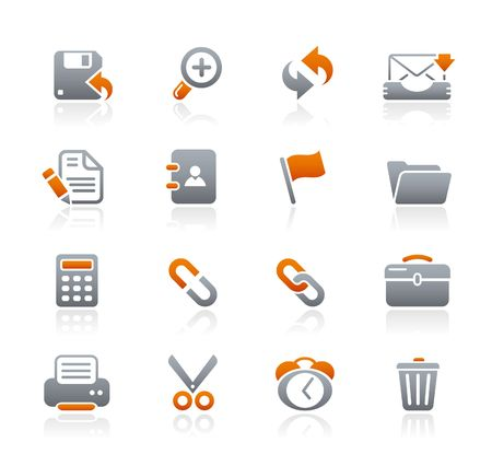 grafiet: Interface   Graphite Icons serie Stock Illustratie