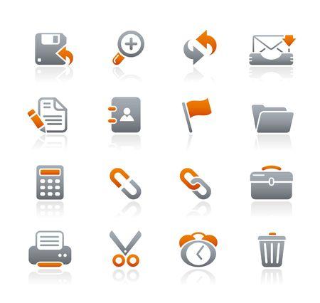 Interface / / Graphite Icons serie Vector Illustratie