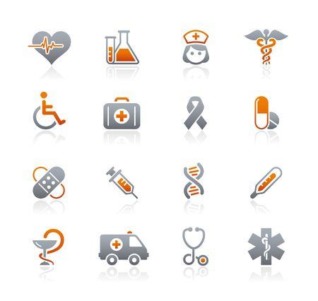 Medicine  Heath care  Graphite Icons Series Vector