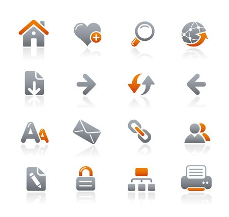 favourites: Web Navigation  Graphite Icons Series