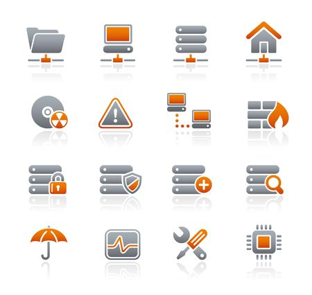 grafiet: Net werk & server   Graphite Icons serie