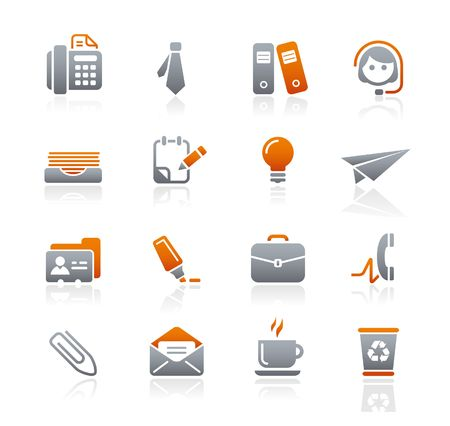 Office & Business // Graphite Icons Series Stock Vector - 6625065