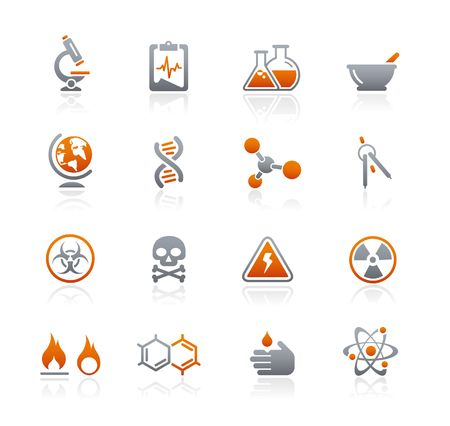 Science  Graphite Icons Series Vector