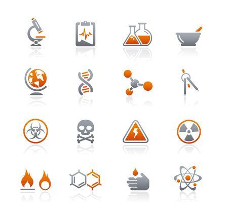 hazardous waste: Scienza   serie di icone Graphite