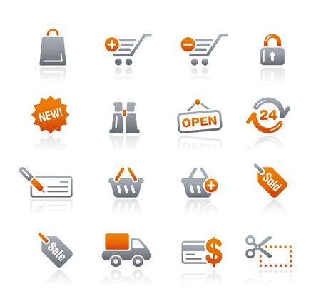 ecomerce: Shopping  Graphite Icons Series Illustration