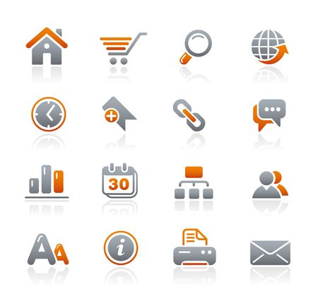 Web Site & Internet // Graphite Icons Series Stock Vector - 6625008