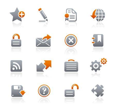 site web: Sito Web e Internet Graphite Icone Series