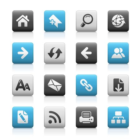 Web Navigation // Matte Icons Series Stock Vector - 6625106
