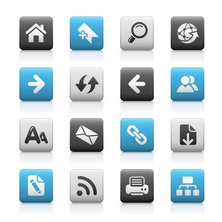 Web Navigation / / Matte icônes série
