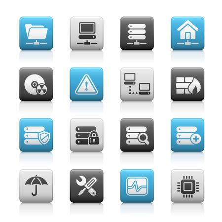 Network Server // Matte Icons Series Stock Vector - 6625082