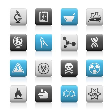 toxicology: Science  Matte Icons Series