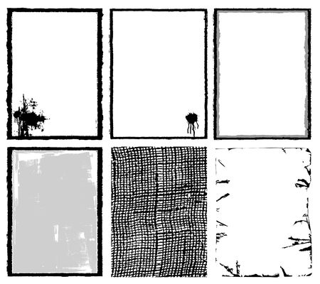 uneven edge: Frames & Textures