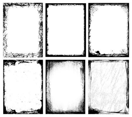 uneven edge: Textured Frames