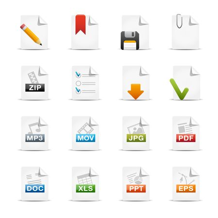 word processor: Documents  Professional Icon Set Series