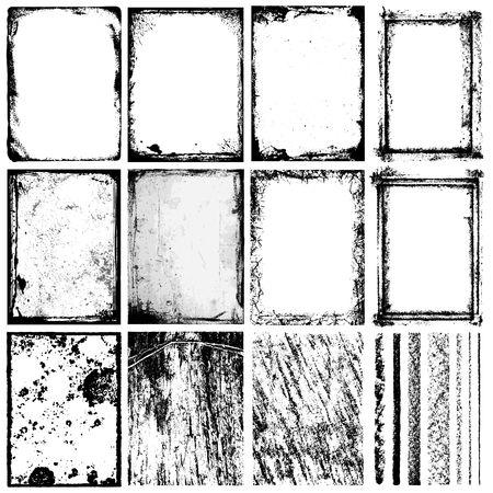 Set di frame, trame, linee & pennelli.
