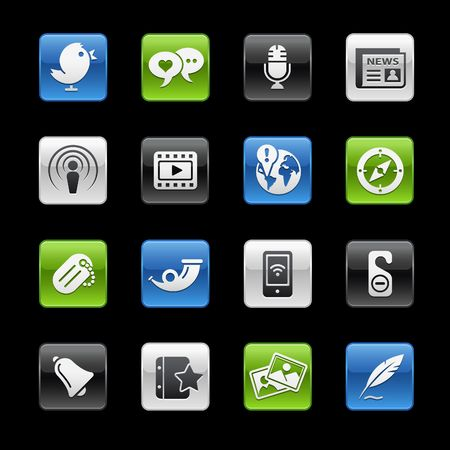 photo icons: Social Media  Gelbox Series