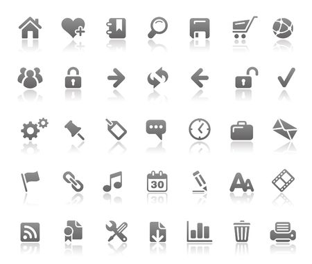 Website & Internet Icons  Basics Series Vector