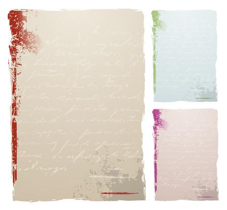 scrawl: Grunge background con testo