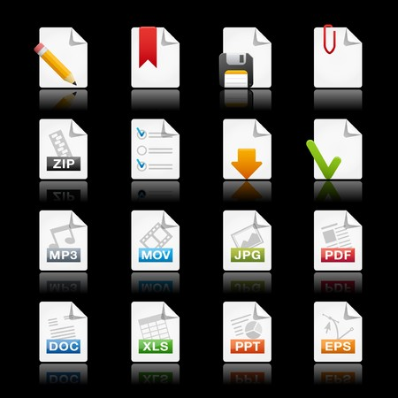 download folder: Black Documents  Professional Series Illustration