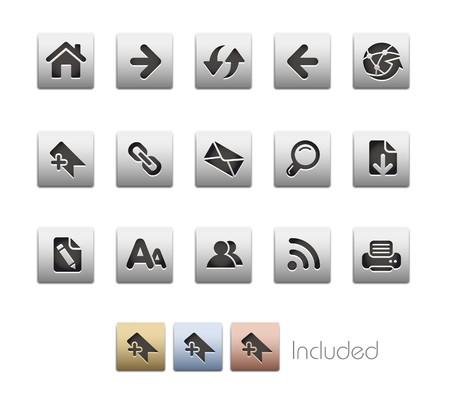 impresora: Navegaci�n de Web  incluye 4 colores en diferentes capas.  Vectores