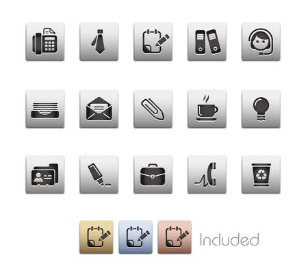 metal light bulb icon: Office & Business  It includes 4 color in differents layers