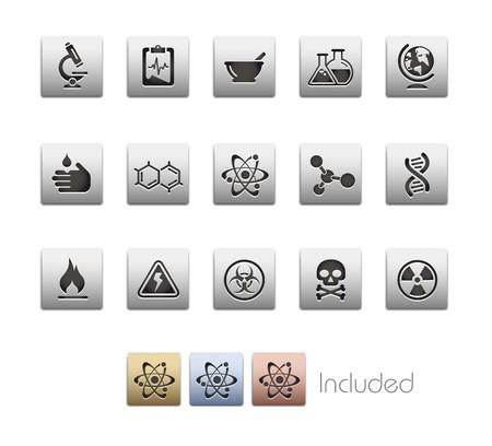 hazardous waste: Scienza  include 4 colori negli strati differents