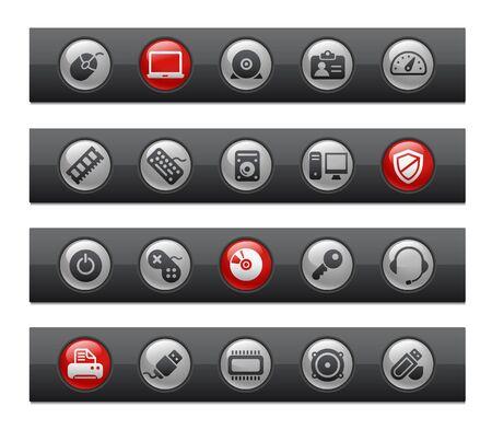 Computer & Devices  Button Bar Series Vector