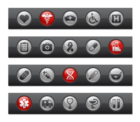 Medicine & Heath care  Button Bar Series Vector