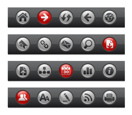 Web Navigation // Button Bar Series Stock Vector - 7118059