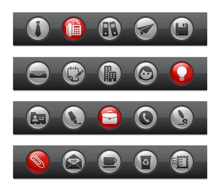 Office & Business // Button Bar Series  Stock Vector - 7118054