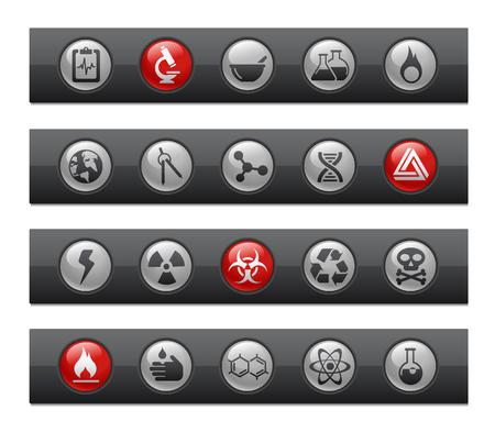 corrosive poison: Science  Button Bar Series  Illustration