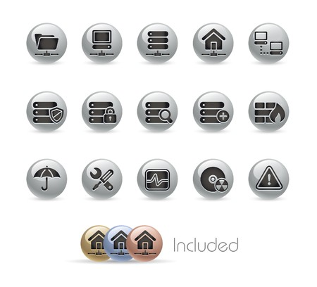 Network & Server / The EPS file includes 4 color in different layers. Stock Vector - 7172483