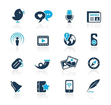 Social Media  Azure Series Vector