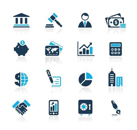 safety check: Negocios & finanzas   Azur Series  Vectores