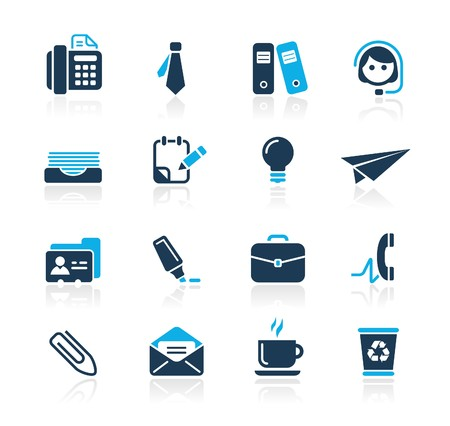 fax icon: Office & Business  Azure Series