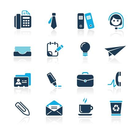 icono fax: Oficina & Business   Azur Series  Vectores