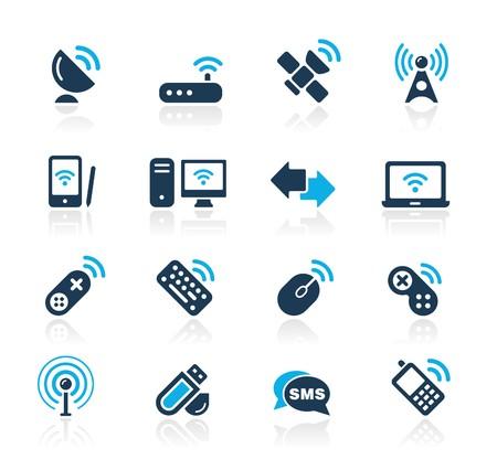 Sans fil & communications / / Azure série  Vecteurs