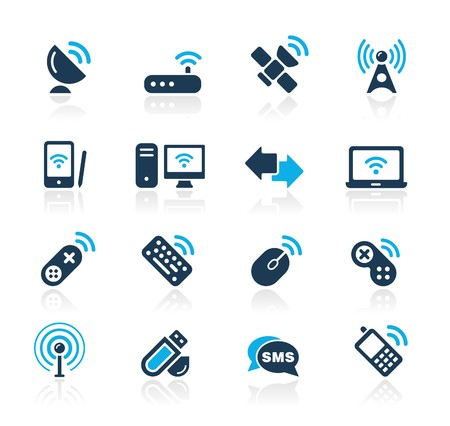 wireless tower: Wireless & Communications  Azure Series Illustration
