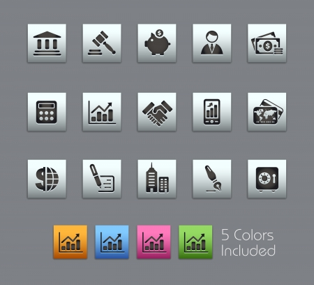 Business / It includes 5 colors in different layers