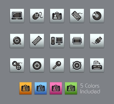 Computer & Devices  It includes 5 colors in different layers  Vector