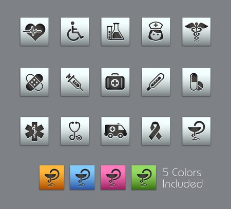 pharmacy icon: Medicine & Heath Care  It includes 5 colors in different layers.