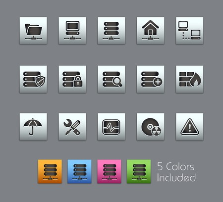 Network & Server  It includes 5 colors in different layers  Vector