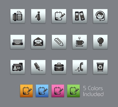 Office & Business  It includes 5 colors in different layers  Vector