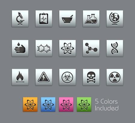hazardous waste: Scienza  include 5 colori su livelli diversi