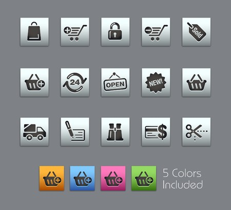 credit cart: Shopping  It includes 5 colors in different layers  Illustration