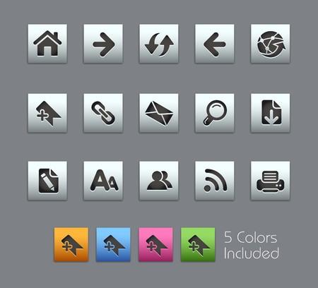 Web de navigation et il comprend 5 couleurs dans différentes couches.