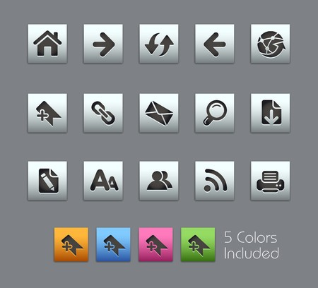 Web Navigation / It includes 5 colors in different layers.